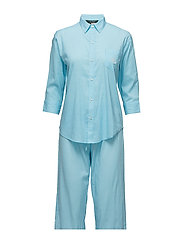 Paisley Capri Sleep Set - TURQUOIS/WHITE