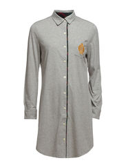 L/S SLEEP SHIRT - GREY HEATHER W