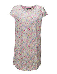 S/S DROP SHOULDER SLEEPTEE - MULIT FLORAL