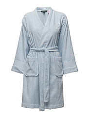 Terry Shawl-Collar Robe - ESTATE BLUE