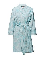 COTTON TERRY ROBE - TURQUOISE