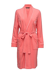 Quilted Shawl-Collar Robe - CORAL