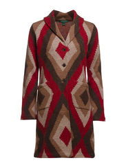 FARISSE - L/S SHAWL CLR COAT - MULTI