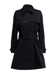 SKIRTED TRENCH - REGAL NAVY