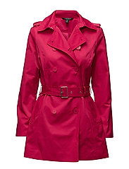 Double-Breasted Trench Coat - PINK GLOW