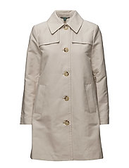 COTTON-BLEND TRENCH COAT - STONE