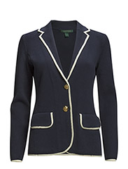 KINADINE - NOTCH COLLAR BLAZER - INDIGO SKY/MODE