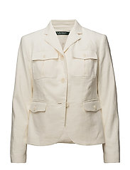 Herringbone Safari Jacket - HERBAL MILK