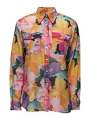 Cotton-Silk Voile Shirt - MULTI