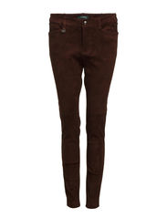 PREAW - SLIM PANT - DARK HEMP SUEDE