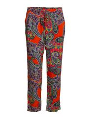 CHARINNE - TAPRD PANT - ORANGE MULTI