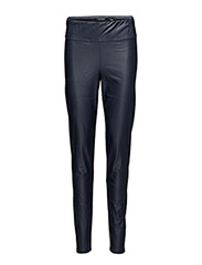FAUX LEATHER LEGGINGS - NAVY