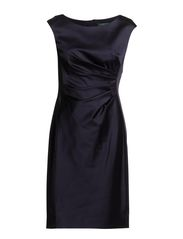 AURELIA-CAP SLEEVE DRESS W/PRI - LIGHTHOUSE NAVY