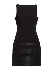 DEBRA - SLEEVELESS DRESS - BLACK/BLACK