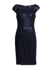 ROWENA - CAP SLEEVE DRESS - LIGHTHOUSE NAVY