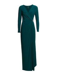 PASCHA - LONG SLEEVE DRESS - GREEN VALLEY