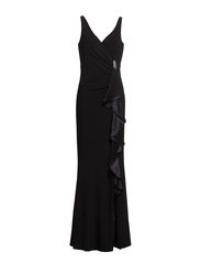 CHELO - SLEEVELESS DRESS - BLACK