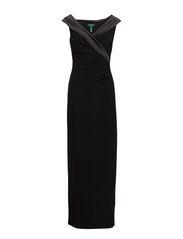LEONETTA - CAP SLEEVE DRESS - BLACK/BLACK