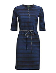 HOANA - RS HENLEY DRESS - BLUE MULTI