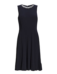 JAMIR EMB - OTHER DRESS - LIGHTHOUSE NAVY