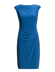 KARLINA - CAP SLEEVE DRESS - FIJI BLUE