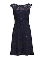 MALIKA - CAP SLEEVE DRESS - LIGHTHOUSE NAVY