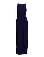 DAMIEN - SLEEVELESS DRESS - CANNES BLUE