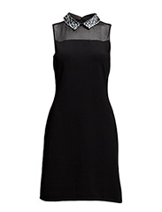 HALIM - SLEEVELESS DRESS - BLACK