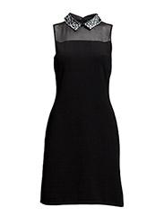 HALIM - SLEEVELESS DRESS - BLACK