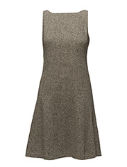 CHECKLIE - SLVLS DRESS - GREY/CREAM