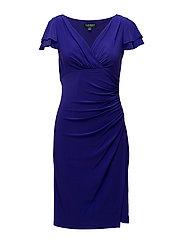 BRISA - SHORT SLEEVE DRESS - HYDRANGEA