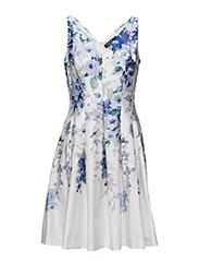 MARIETTA - SLEEVELESS DRESS - WHITE/GRAPE/MUL