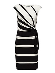 Striped Jersey Dress - BLACK/COLONIAL