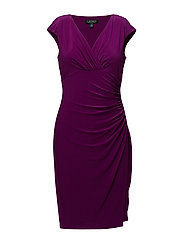 ADARA - CAP SLEEVE DRESS - EXOTIC FUSCHIA