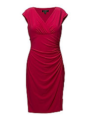 Jersey Cap-Sleeve Dress - PNK POPPY