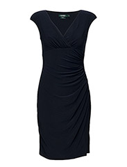 ADARA - CAP SLEEVE DRESS - LIGHTHOUSE NAVY