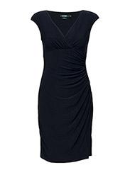 Jersey Cap-Sleeve Dress - LIGHTHOUSE NAVY