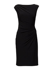 VANNALYNN - CAP SLEEVE DRESS - BLACK