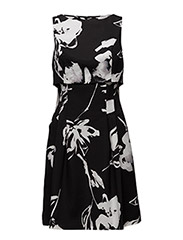 LAMONA - SLEEVELESS DRESS - BLACK/COLONIAL