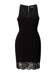COOPER - SLEEVELESS DRESS - BLACK-BLACK