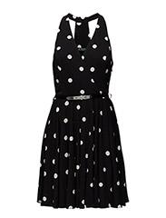 NURI - SLEEVELESS DRESS - BLACK-PEARL