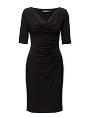 CARLETON - SHORT SLEEVE DRESS - BLACK