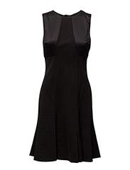 MASONDA - SLEEVELESS DRESS - BLACK/BLACK