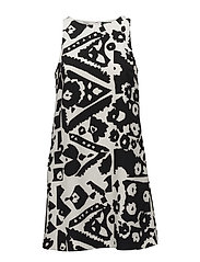 Floral-Print Crepe Dress - BLACK/COLONIAL