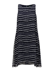 Georgette A-Line Dress - LIGHTHOUSE NAVY