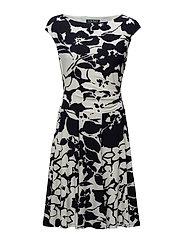 FLORAL PRINT JERSEY DRESS - LIGHTHOUSE NAVY