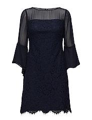 Lace Bell-Sleeve Dress - LIGHTHOUSE NAVY