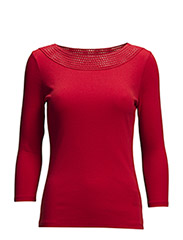 RAELIANNA - 3/4 SLV BALLETNECK - VARSITY RED