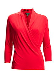 BELLINDO - 3/4 SLV VNECK WRAP - FALL RED