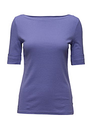 COTTON BOATNECK TOP - CASSIS PURPLE